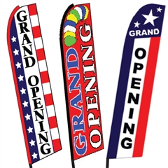 Grand Opening Swooper Flags