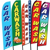 Car Wash Swooper Flags