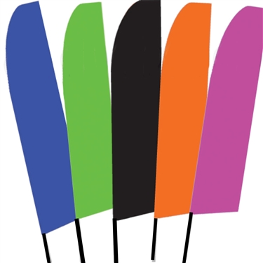 Solid Color Swooper Flags