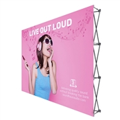 10 ft straight pop up display graphic package no end caps