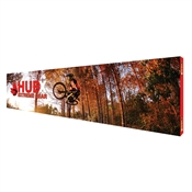 30' Straight Pop Up Display Graphic Package Fabric Banner