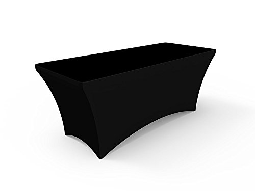 Black Stretch Table Throws - Solid Color Spandex Tablecloths