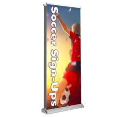 "Deluxe Retractable - Double Sided 33"" x 81""  Graphic Package"