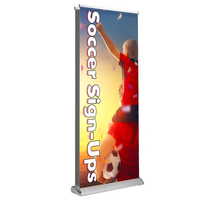 "Deluxe Retractable - Double Sided 33"" x 81"""