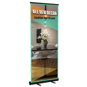 "Standard Retractable 33"" x 81"" (black) Graphic Package"
