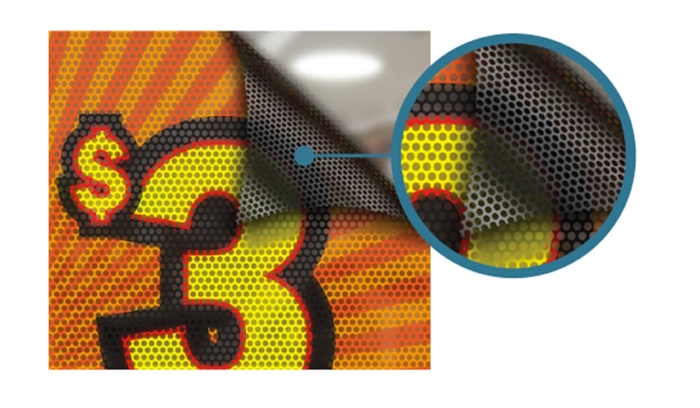 Adhesive Window Perforated - Custom Printed