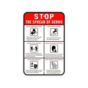 Stop Germs Safety Signs