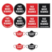 face coverings required stickers