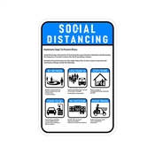 Covid-19 Social Distance Safety Sign 12x18in