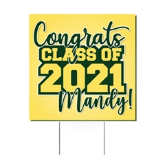 "Graduation Yard Signs - Personalized 24""W x 24""H"