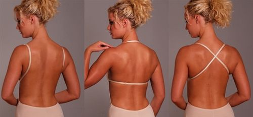 Extra Padded Backless Body Shaper bra with removable cookies (Thong)