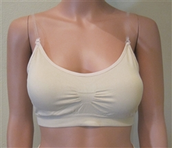 Stretch Clear Strap Bralette with removable cookies