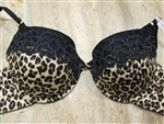Luxury Leopard Thick Padded Bra