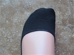Black No Show Liner Socks