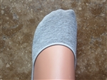 Gray No Show Liner Socks