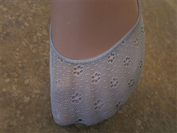Daisy Gray Lace No Show Liner Socks