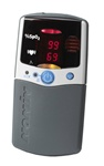NONIN 2500A PALMSAT MEMORY ALARMS HAND HELD PULSE OXIMETER