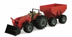 Case IH Monster Treads Tractor with Wagon