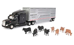 PETERBILT WITH LIVESTOCK TRAILER