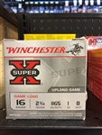 "WINCHESTER SUPER X 16 GAUGE 2 3/4"" 8 SHOT"