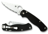 SPYDERCO PARA MILITARY 2 G-10 PLAIN EDGE BLACK