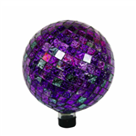 PURPLE AND GREEN GAZING BALL