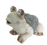 SOLAR FROG STATUE 12 INCH