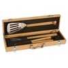 3-Piece Bamboo BBQ Set