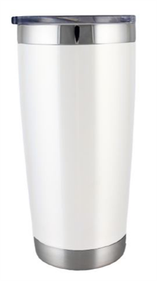 22 oz White Boss Tumbler