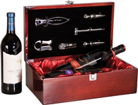 Wine Box w/Tools: Rosewood Piano Finish (Double)