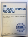 Certificate - Steward Training