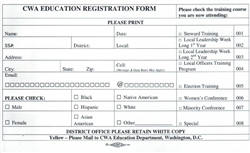 Education Registration Forms (PDF ONLY)