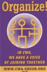 Decal - 'Organize!' (In CWA We Have a Voice by Joining Together)