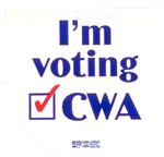 "Stickers ""I'm Voting CWA Yes"""