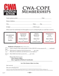 COPE Membership Form & Incentive Slick