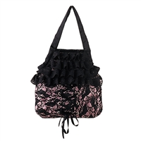 Pink Satin and Lace Purse - Clearance