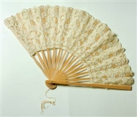 Ivory Battenburg Lace Fan