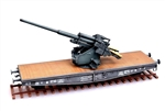German 128mm Flak 40 Anti-Aircraft Flatcar