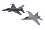 US Strike Force Collection - F/A-18 Hornet and F-16 Fighting Falcon (Fit to Box)