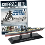 German Kriegsmarine Deutschland Class Heavy Cruiser - DKM Admiral Graf Spee [With Collector Magazine]