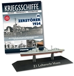German Kriegsmarine Leberecht Maass Class Destroyer - Z1 Leberecht Maass
