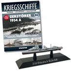 German Kriegsmarine Type 1934A Class Destroyer - Z16 Friedrich Eckoldt