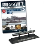 German Kriegsmarine Leberecht Maass Class Destroyer - Z1 Wilhelm Heidkamp [With Collector Magazine]
