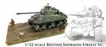 British M4A4 Sherman Firefly Mk. VC Medium Tank - 24th Lancer, 13th/18th Hussars, 8th Armoured Brigade, Normandy, France, 1944 [Bonus Chrysler A57 Multi-Bank Engine] (1:32 Scale)