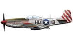 "USAAF North American P-51D Mustang Fighter - Capt. John J. Voll, ""American Beauty"", 308th Fighter Squadron, 31st Fighter Group, East Wretham, England, March 1945"