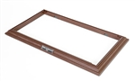 Display Base Frame with Three Metallic Name Plates for Medium Sized Armored Fighting Vehicles - Mahogany