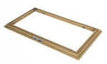 Display Base Frame with Three Metallic Name Plates for Medium Sized Armored Fighting Vehicles - Walnut