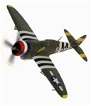 USAAF Republic P-47D Thunderbolt Fighter - Harriet, 5th Emergency Rescue Squadron, 65th Fighter Wing, Boxted, England, May 1944