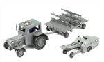 US Navy Modern Weapon Loading Set II - Ford Tractor, Missile Trailer, and Lift Truck
