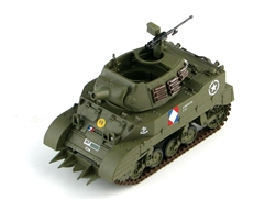 Free French 75mm Howitzer Motor Carriage M8 Tank with Culin Hedgerow Cutter - 1940s